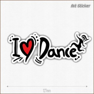 Art Sticker:PVC ステッカー (I Love Dance)