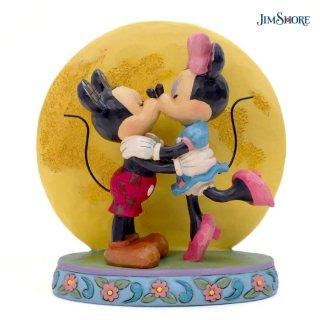【取り寄せ】【JIM SHORE】ディズニートラディション:ミッキー&ミニー ムーンライト