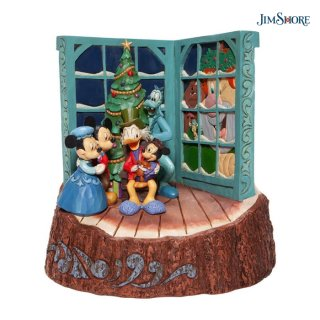 【取り寄せ】【JIM SHORE】ディズニートラディション:ミッキー クリスマスキャロル【ハロウィン・クリスマス商品】