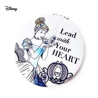 【Disney】コンパクトミラー 折りたたみ 拡大鏡付き 直径72mm シンデレラ RM-5753