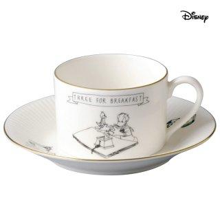 【Disney】 ハンドドローイング カップ&ソーサーB D-MF01 ディズニードナルド&チップ&デール