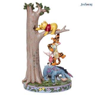 【JIM SHORE】ディズニートラディション:Tree with Pooh and friends(予約)
