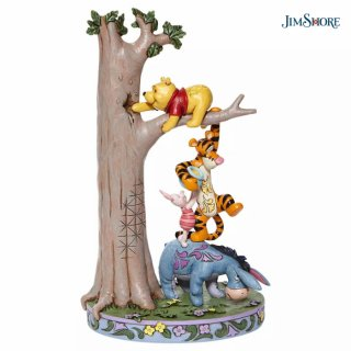 【JIM SHORE】ディズニートラディション:Tree with Pooh and friends(予約)