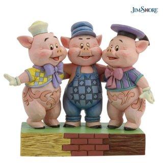 【取り寄せ】【JIM SHORE】ディズニートラディション:三匹の子ぶた