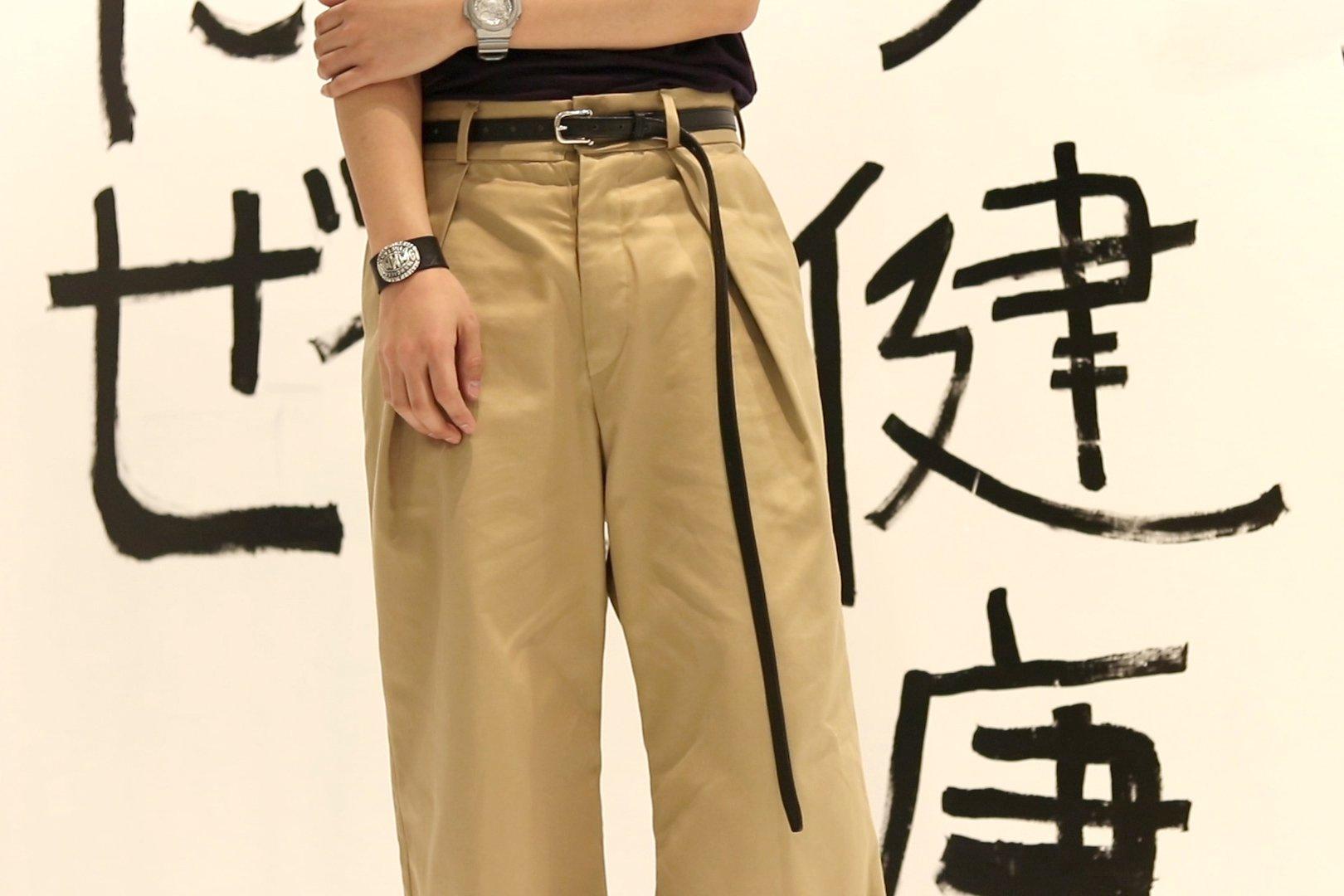 monitaly / Extra Long Leather Belt