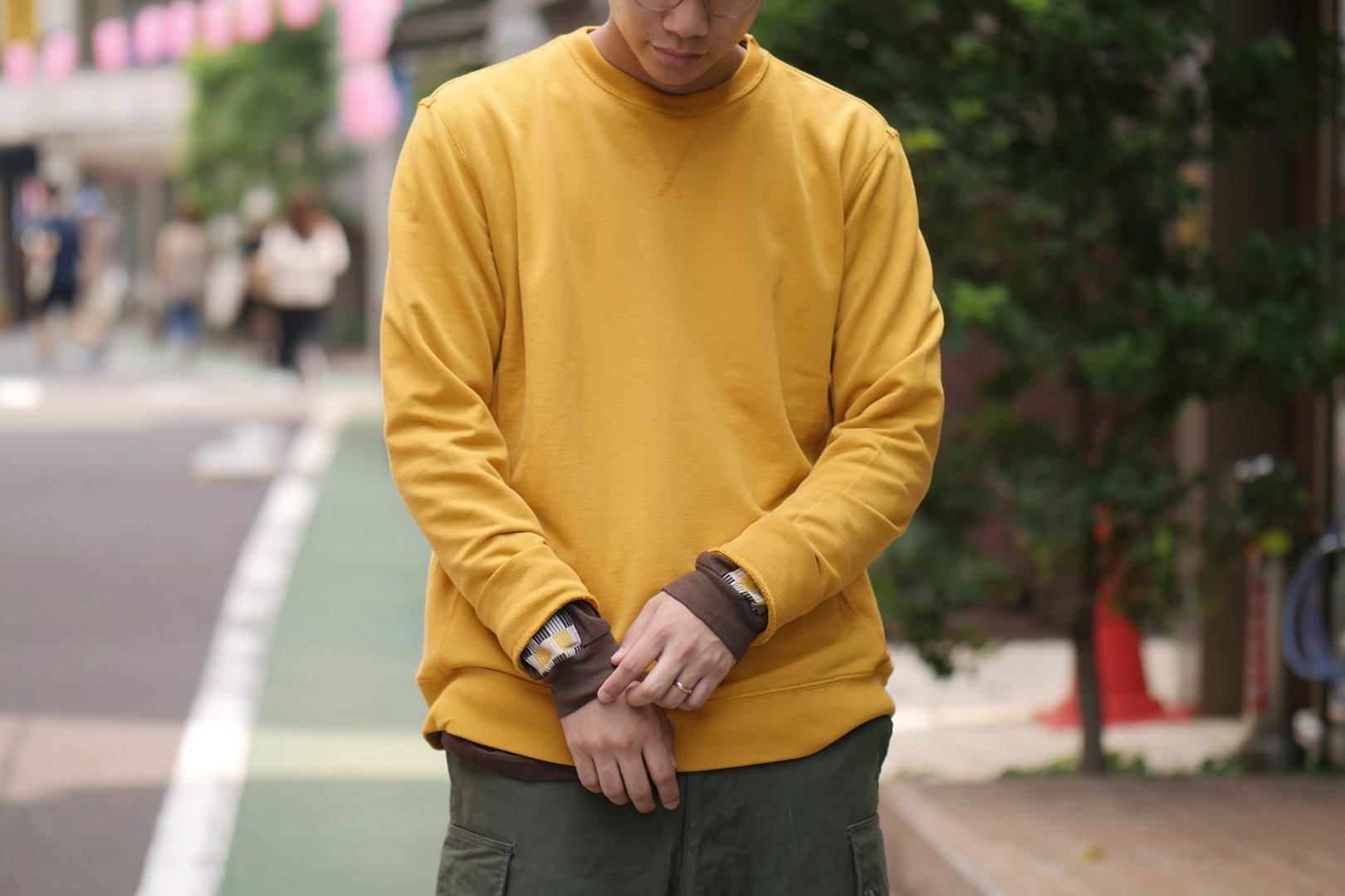 <img class='new_mark_img1' src='https://img.shop-pro.jp/img/new/icons5.gif' style='border:none;display:inline;margin:0px;padding:0px;width:auto;' />The Inoue Brothers / Crew Neck Sweat