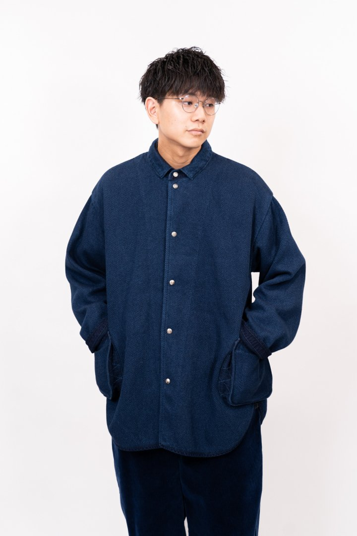 PORTER CLASSIC / PC KENDO SHIRT JACKET W/SILVER BUTTONS