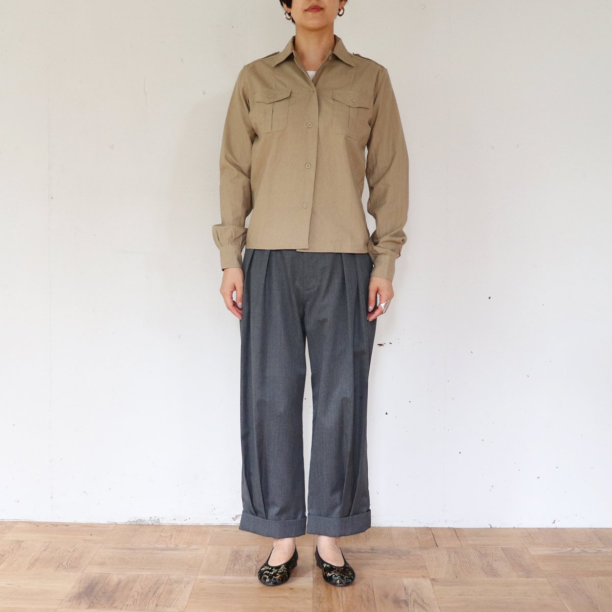 FRENCH ARMY CHINO SHIRTS 詳細画像5