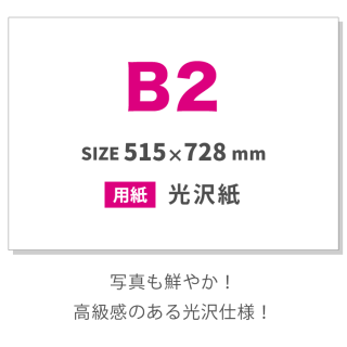 (光沢紙)大判・ポスターB2サイズ