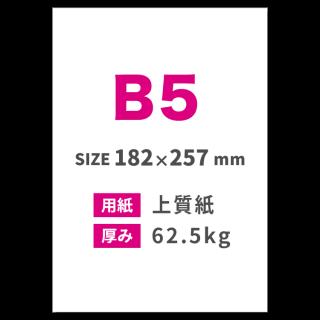 B5チラシ印刷(用紙:上質紙 62.5kg)