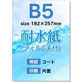 【耐水紙(フィルム素材):片面印刷】B5チラシ印刷(用紙:コート)