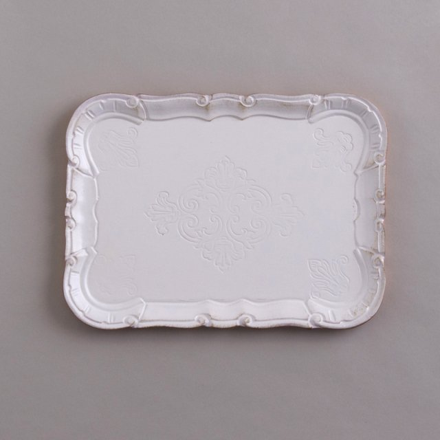 TRAY CAMILLA METAL LEAF