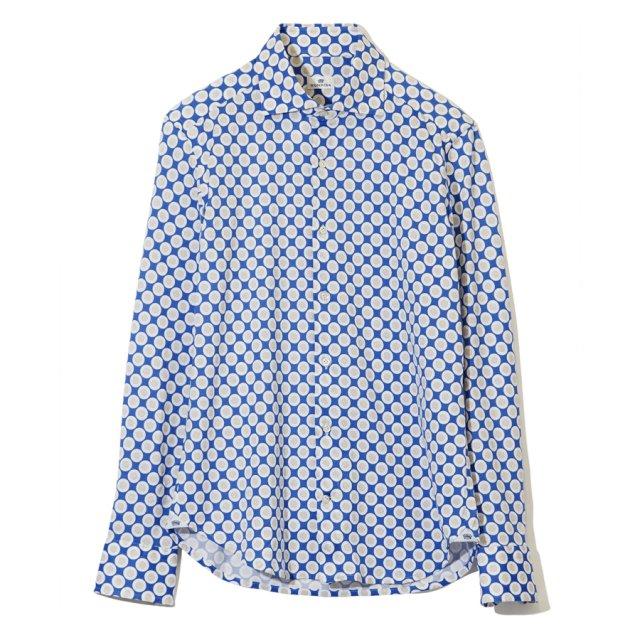 ジオメトリックプリントジャージーシャツ