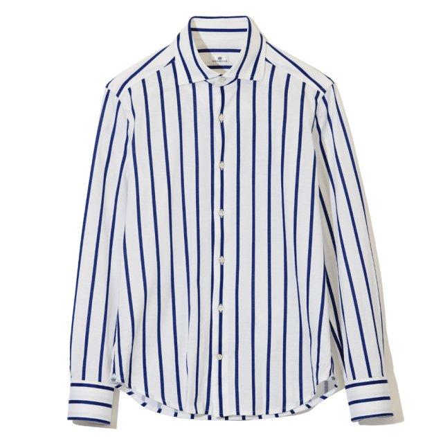 ストライププリントジャージーシャツ