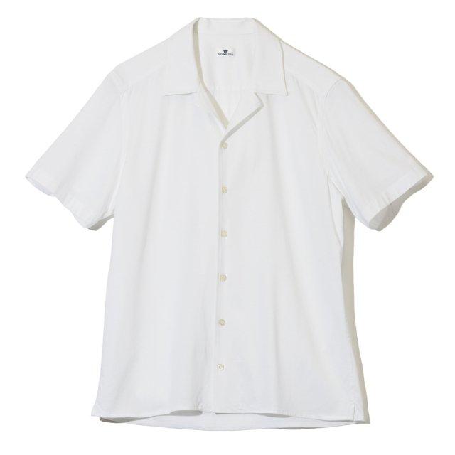 ソリッドカラージャージーショートスリーブシャツ