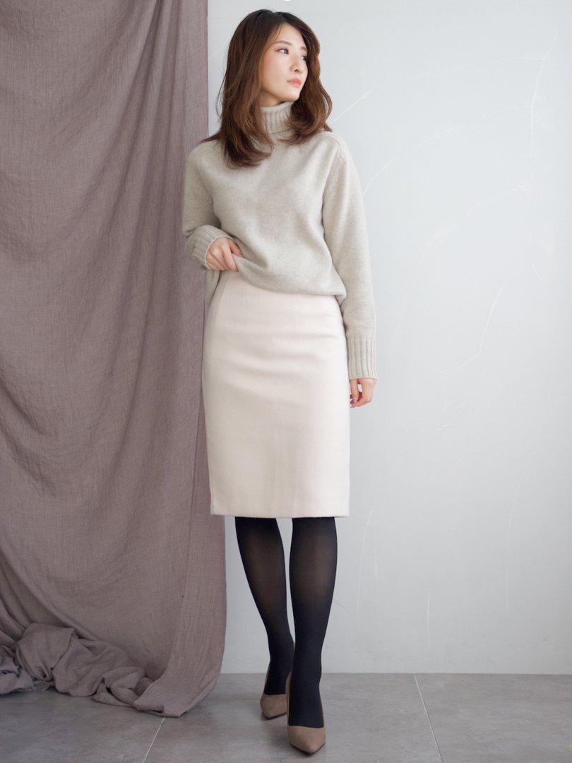 ヘムラインウールスカート(2colors)