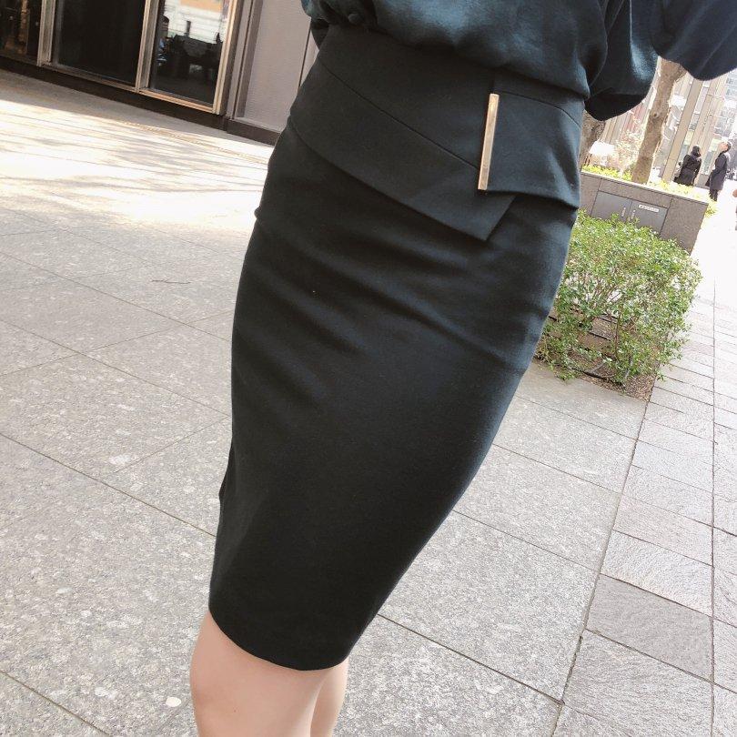【即納】キャンドルペンシルスカート(2colors)【Sサイズ グリーン1着】