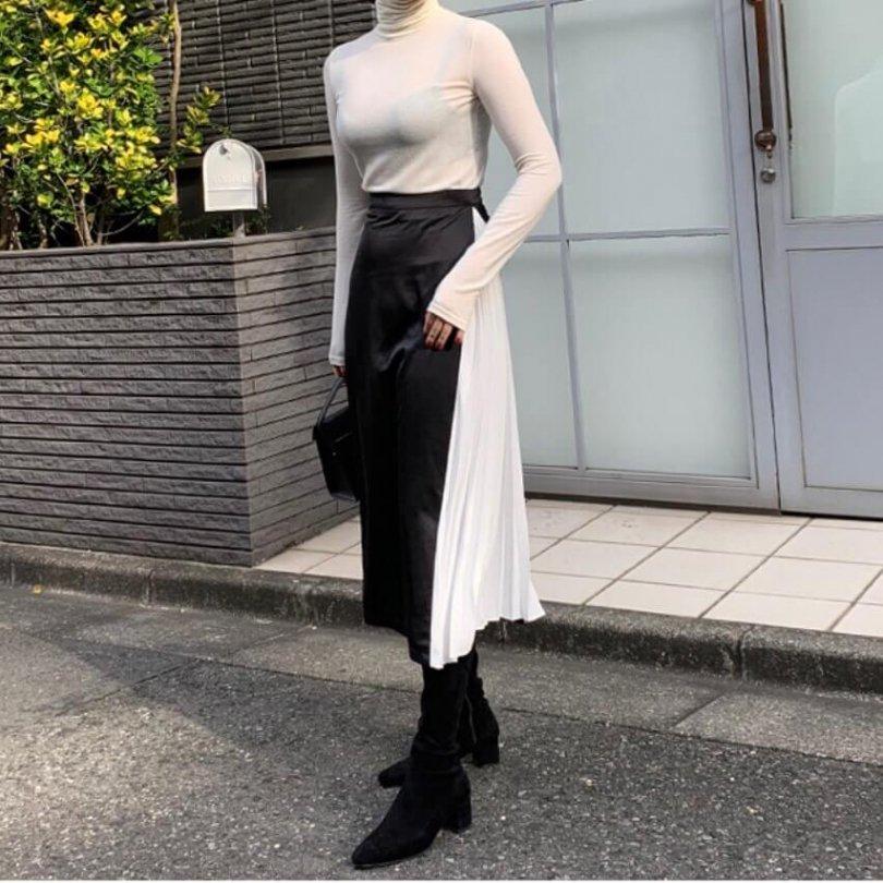 シルエット切替スカート(2colors)
