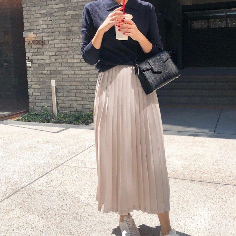 テーラードプリーツスカート(2colors)