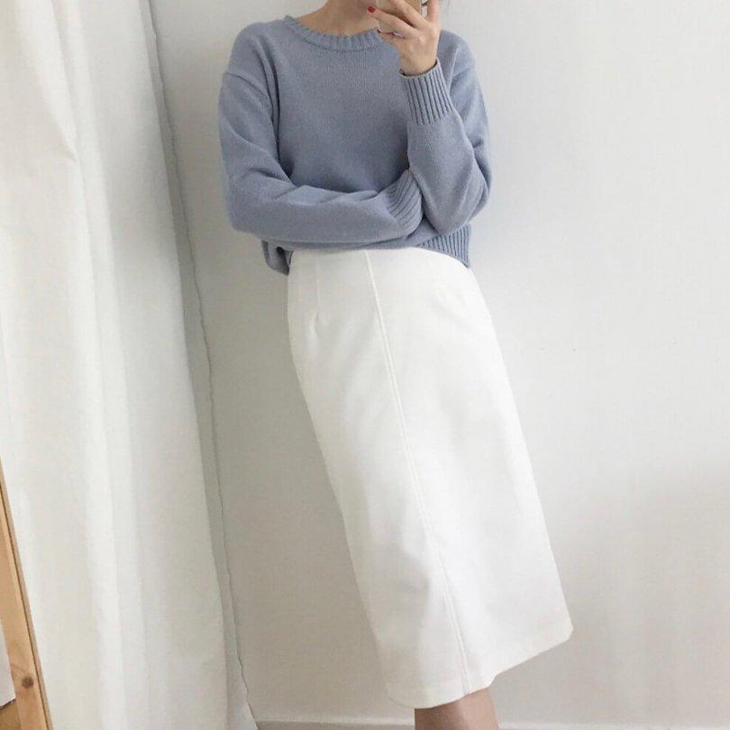 センターラインスカート(2colors)