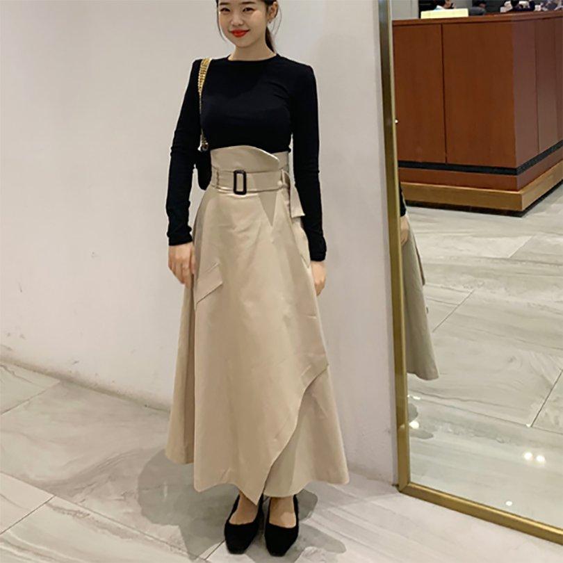 ロングトレンチスカート(2colors)