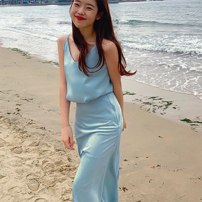 シルクバイアススカート(3colors)