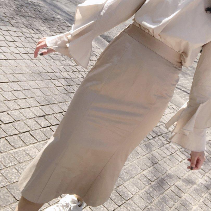 【即納】ベーシックSラインスカート(2colors)【ブラック、ベージュ1着ずつのみ】