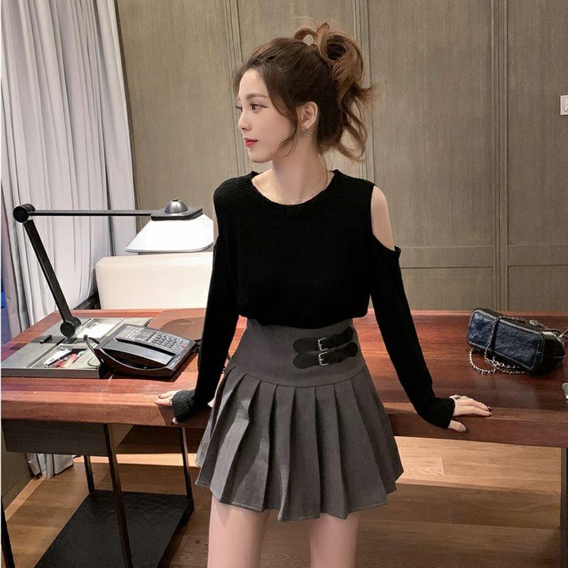 カレッジスタイルプリーツスカート(2colors)