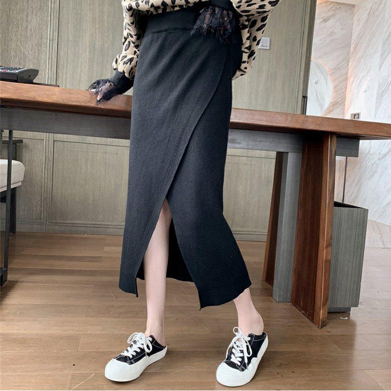 ハイウエストラップロングスカート(2colors)