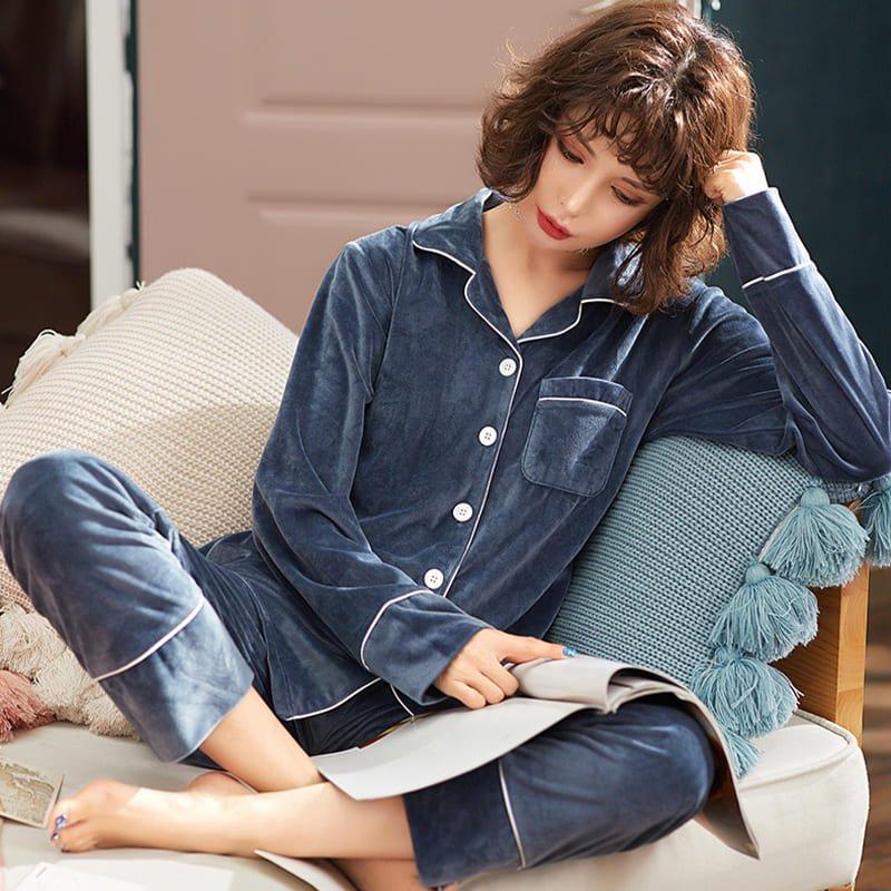 ベルベットシャツルームウェア(5colors)