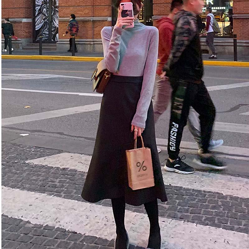 ウールフレアスカート(2colors)