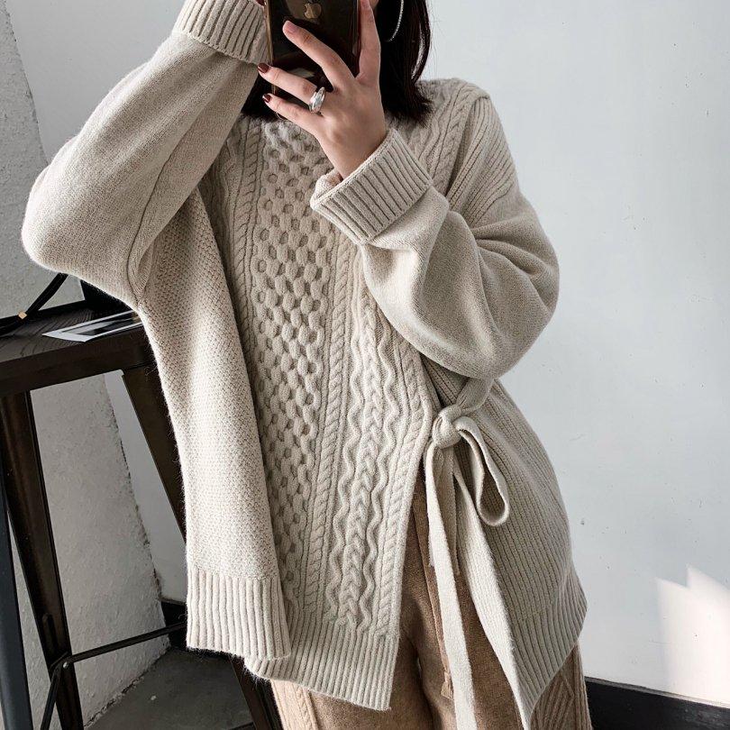 ウエストバンドツイストセーター(2colors)
