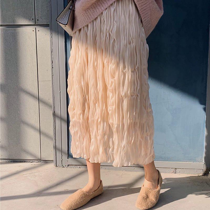 チュールレースプリーツスカート(2colors)