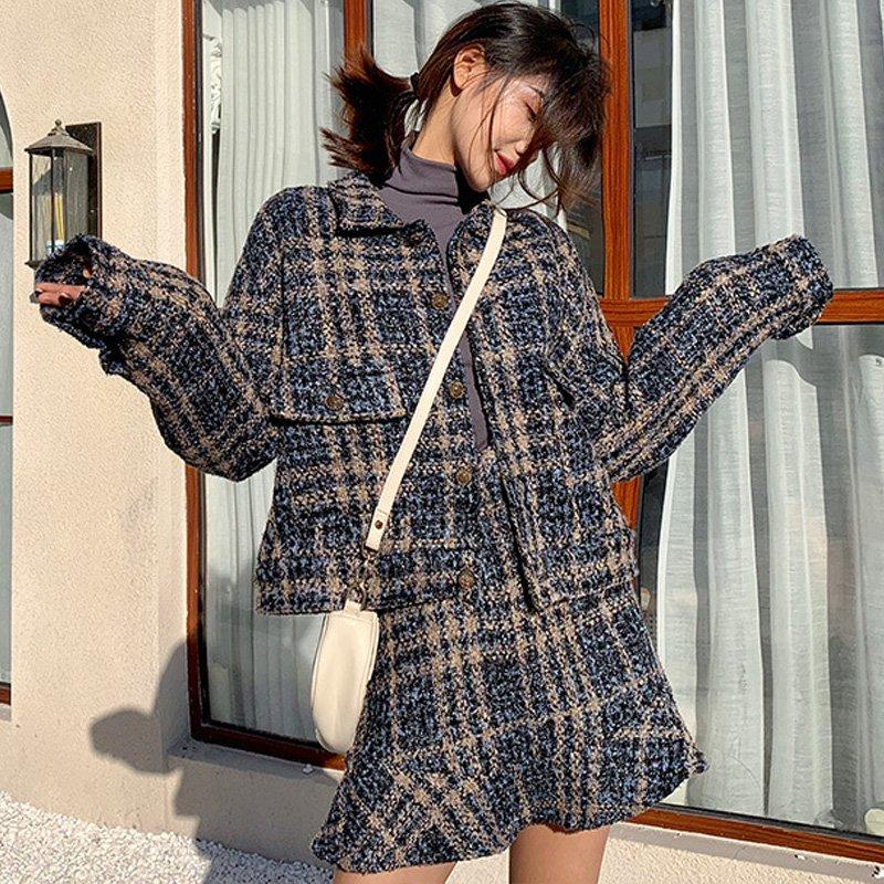 ジャケット×ミニスカート