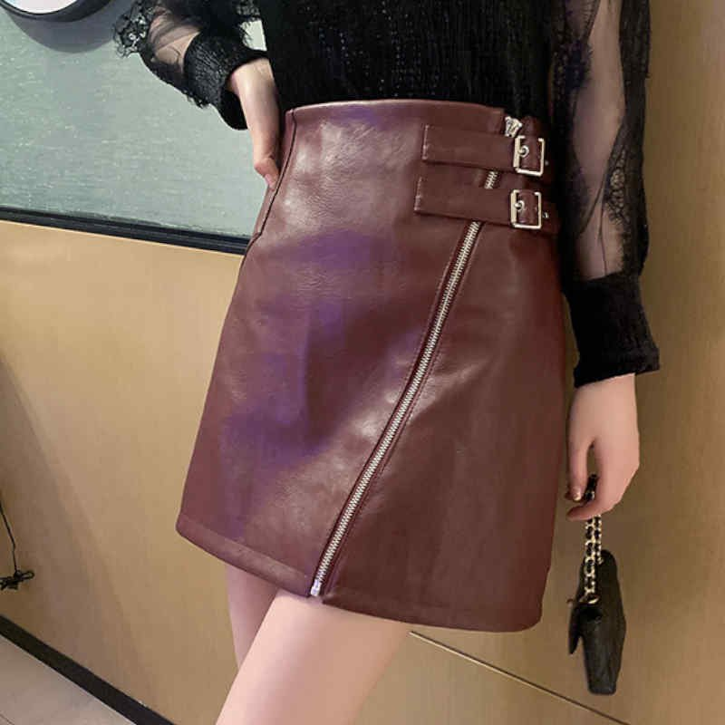 フェイクレザータイトスカート(2colors)