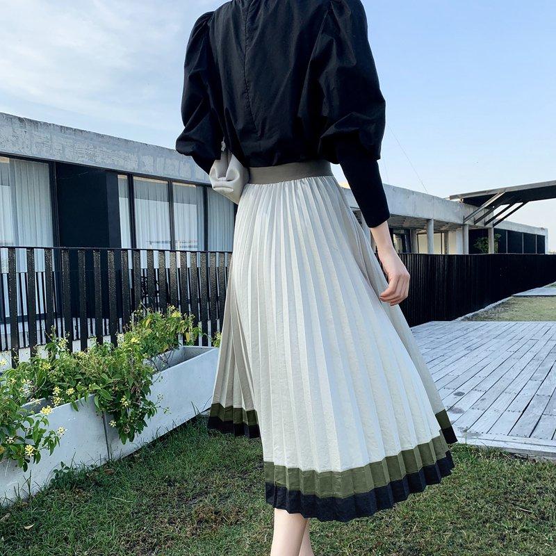 ロングプリーツスカート(2colors)