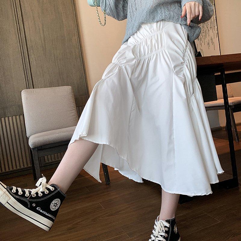 アシンメトリーデザインロングスカート(3colors)
