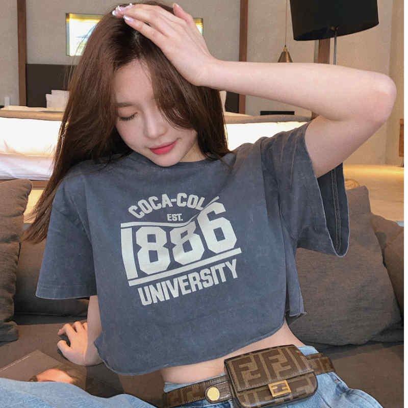 ショート丈プリントTシャツ(3colors)