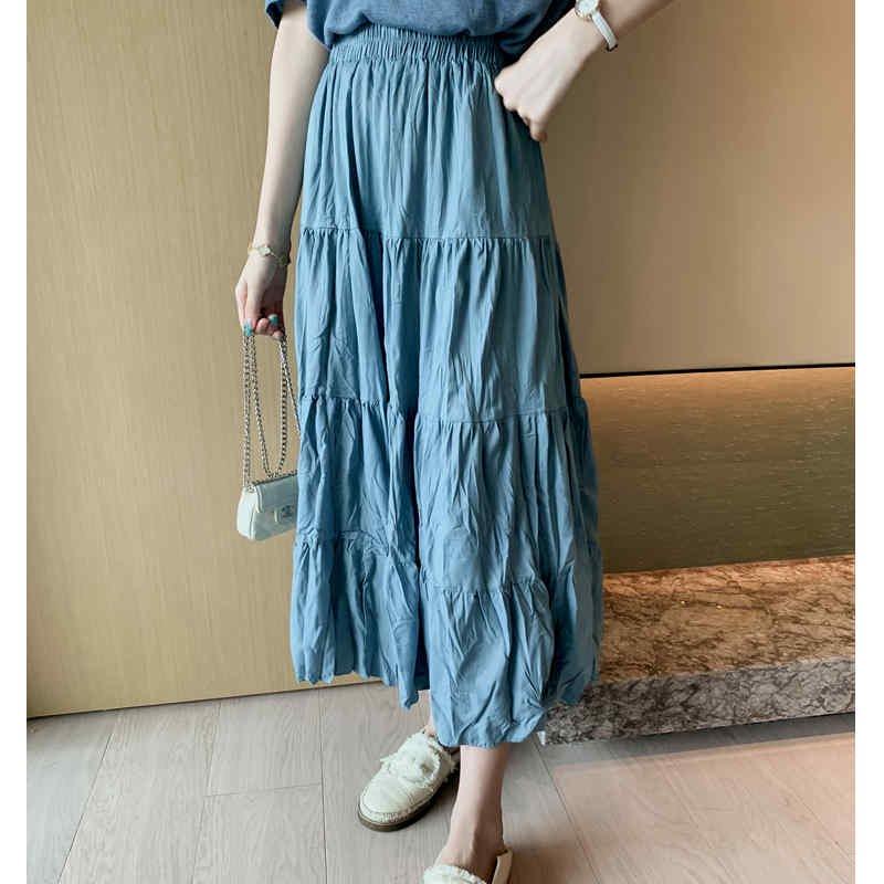 しわ加工ティアードロングスカート(5colors)