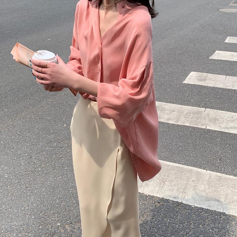 スリットシフォンタイトスカート