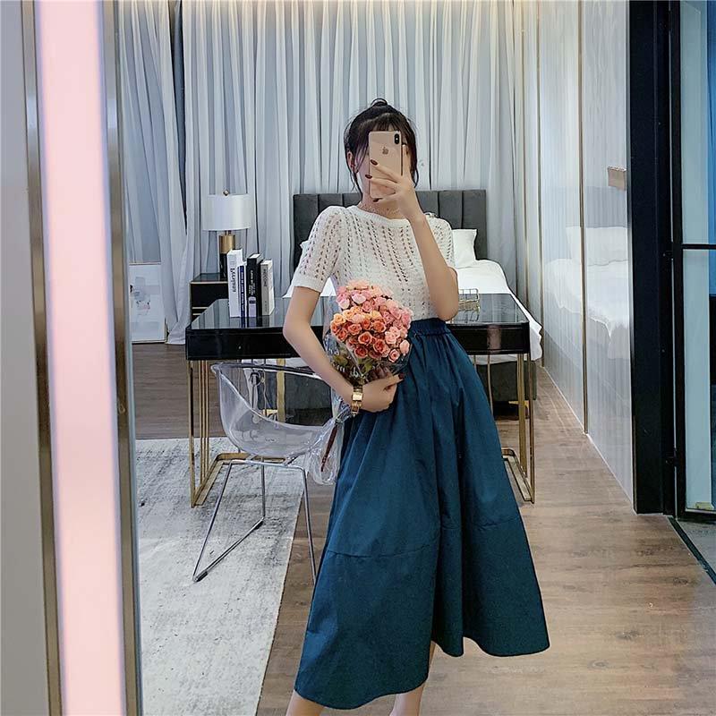 ハイウエストミディスカート(3colors)
