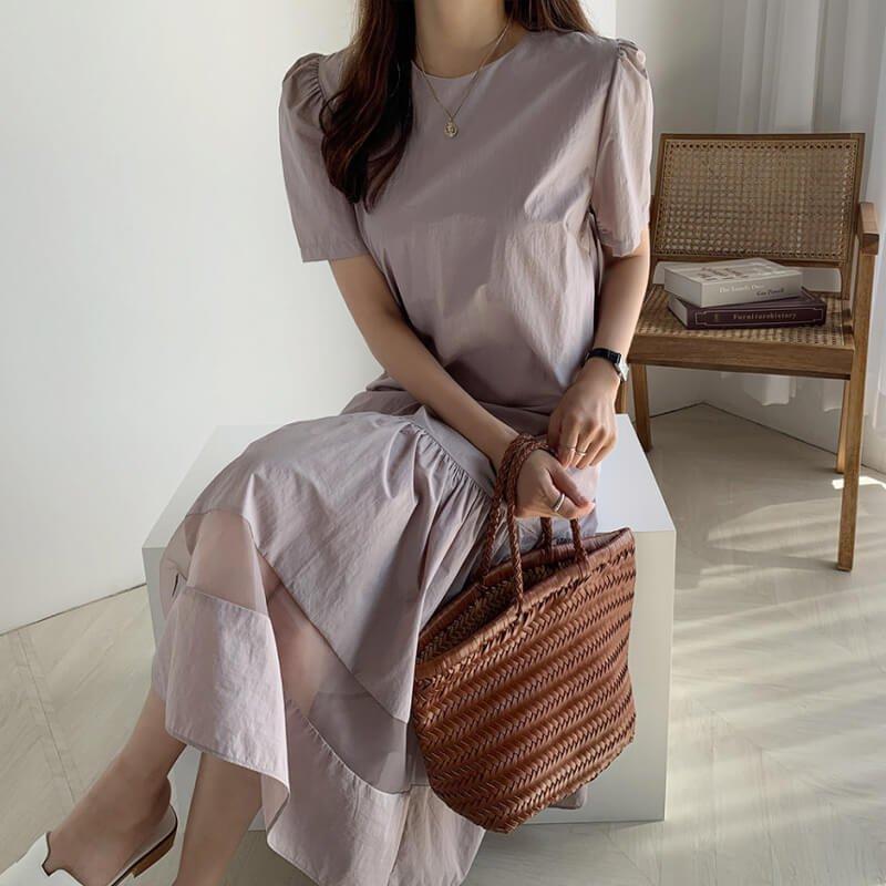 裾フレアワンピース(2colors)