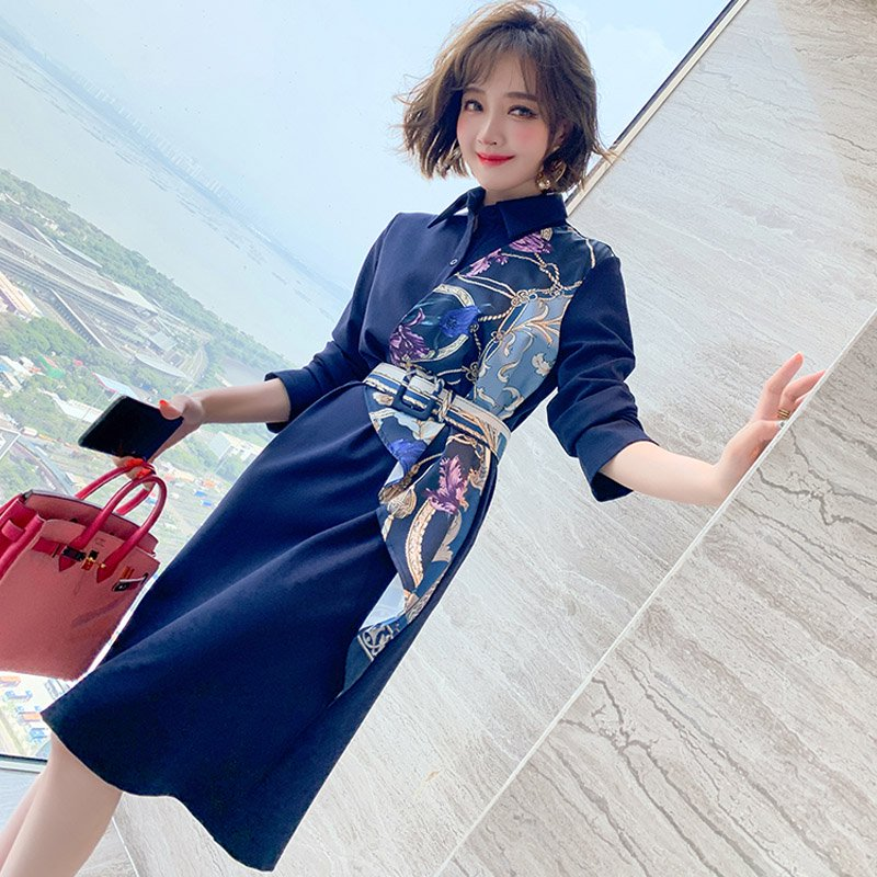 <img class='new_mark_img1' src='https://img.shop-pro.jp/img/new/icons14.gif' style='border:none;display:inline;margin:0px;padding:0px;width:auto;' />スカーフドッキングアシメシャツワンピース