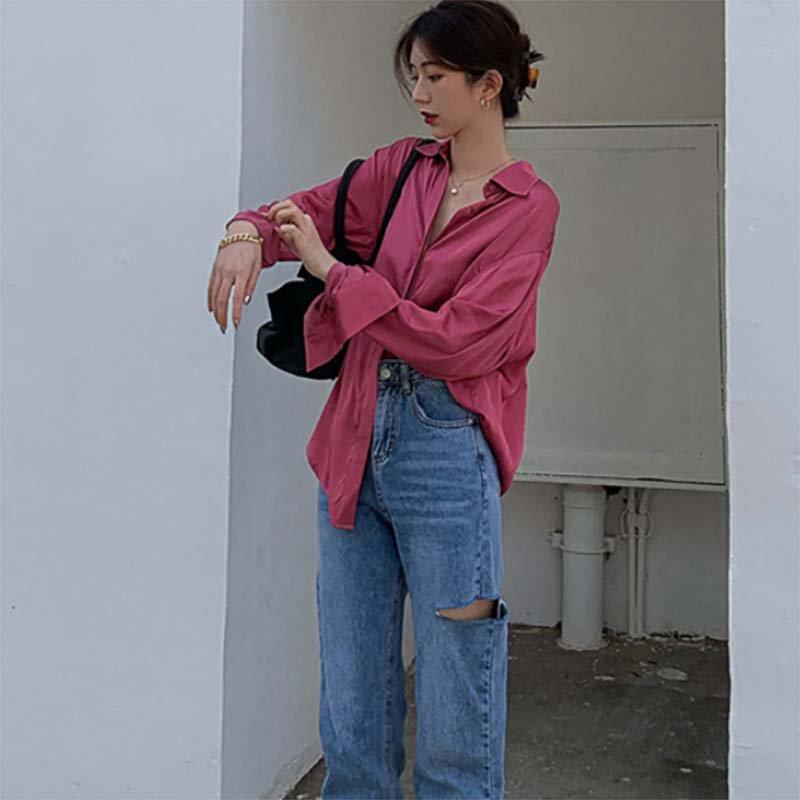 オータムカラールーズシャツ(3colors)