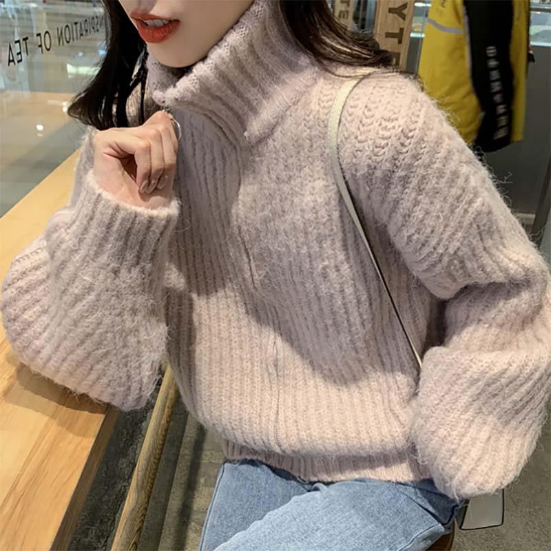 ハイネックジップアップセーター(2colors)
