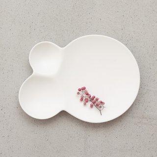 METAPHYS メタフィス 自然が作り出す美しいフォルム 重なり合うシャボン玉のリズムを表現したsavone 仕切り取り皿 マット艶消し