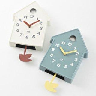 BRUNO バードモビールクロック 振り子時計 掛け時計 壁掛け時計 ウォールクロック アナログ 時計 モビール 鳥 鳥小屋 モダン 見やすい おしゃれ 北欧 子供部屋 寝室 インテリア