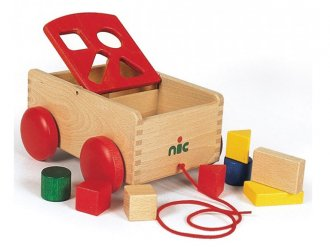 N車付ポストボックス 引っ張って遊べる型はめおもちゃ
