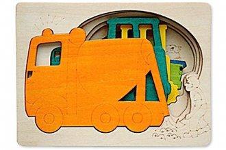 ピープパズルはたらく車 ジョージラックの5重パズル