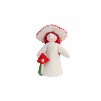 赤いきのこの女の子  ホワイト Ambrosius Doll/アンブロシウス ドール 秋の妖精